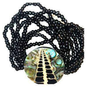 Abalone beaded bracelet